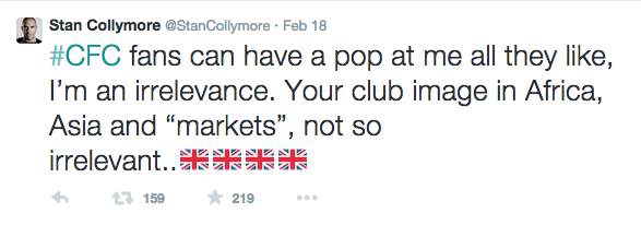 Stan Collymore twitter racism