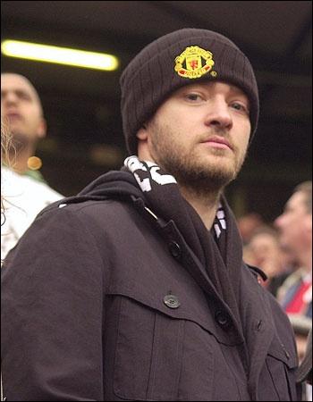 justin timberlake famous manchester united fan