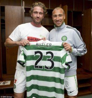 Famous Celtic Fan Gerard Butler