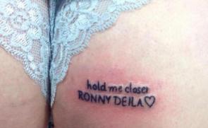 Female Celtic Fan Gets Ronny Deila Tattoo On Arse