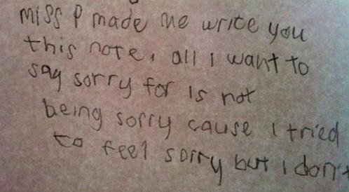 Keane sorry note