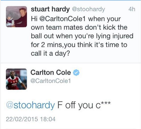 carlton cole twitter