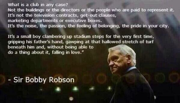 sir bobby robson what is a club quote