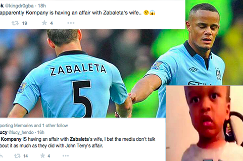 Vincent Kompany affair with Zabaleta's wife