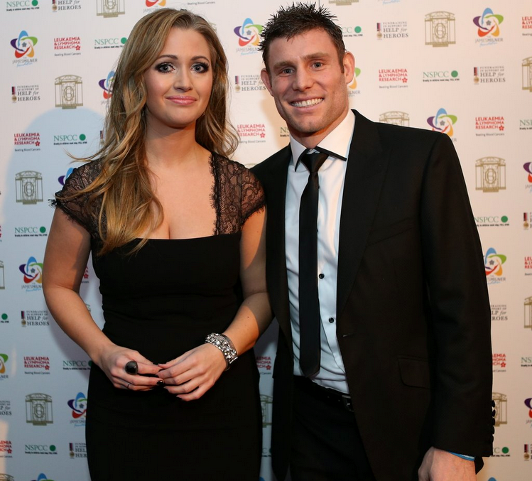 James Milner with girlfriend Amy Fletcher