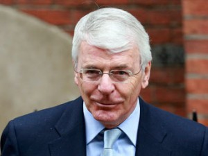 Kinky John Major with his cheeky Chelsea smile.