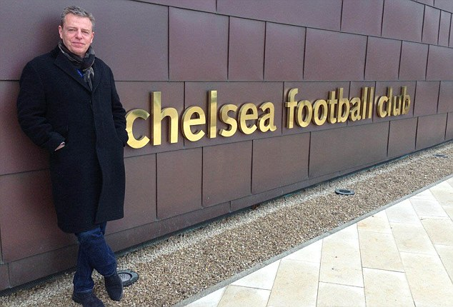Auggs, famous Chelsea fan outside the ground.