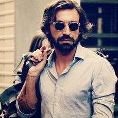 Andrea Pirlo looking cooler than anyone reading this could ever look.