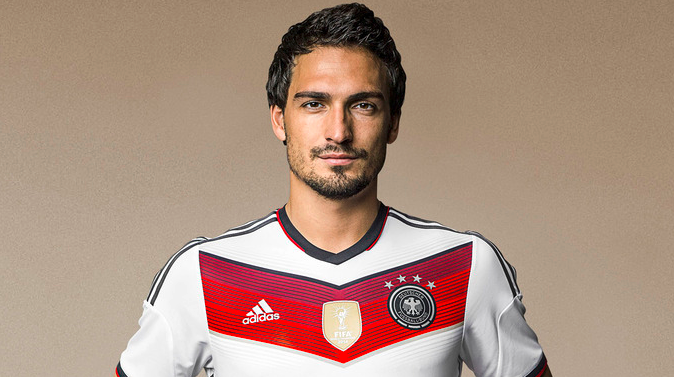Fit footballer Mats Hummels has a world cup medal as a bonus.
