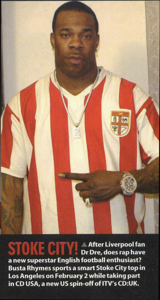 Famous Stoke City Fans - Busta Rhymes
