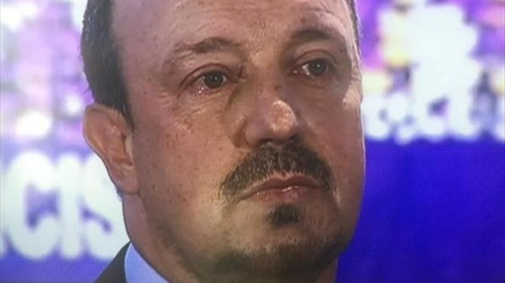 rafa benitez crying