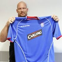 Wrestler Steve Austin is a Rangers Fan