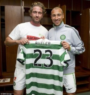 Famous Celtic Fan Gerard Butler