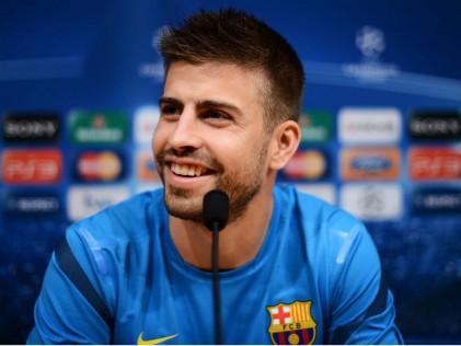 Gerard Pique Barcelona Vs Chelsea Press Confe2755072 Lol Football